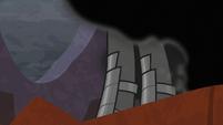Sombra stepping through the black smoke S9E1