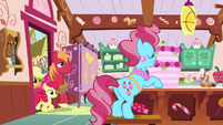 The Apple siblings enter Sugarcube Corner S7E13