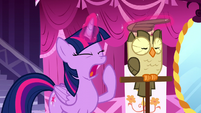 Twilight Sparkle yawning S5E13