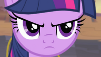 Twilight looking serious S4E11