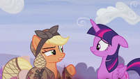 "Applejack ""but we aren't friends"" S5E25"
