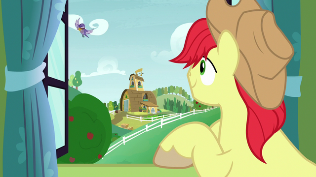 File:Bird flying back to Bright Mac's window S7E13.png