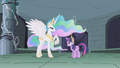 Celestia talking to Twilight in the ruins S1E2.png