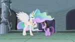 Celestia talking to Twilight in the ruins S1E2
