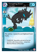 Changeling Drone Fear Eater card MLP CCG