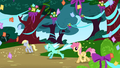 Derpy Hooves happy with Lyra Heartstrings S1E02.png