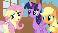 """Fluttershy blushing """"I'd rather not say"""" S4E16.png"""
