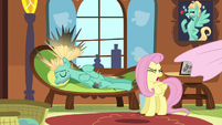 Fluttershy pulls sheets off of Zephyr S6E11