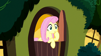 Fluttershy sees something outside her house S8E18
