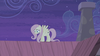 Fluttershy still on the roof S5E02