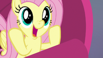 Fluttershy unable to contain excitement S9E9