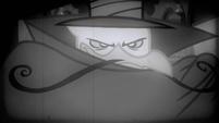 Gustave as a silent film era villain S2E24