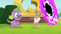 Jackalope appears in front of Spike EG3.png