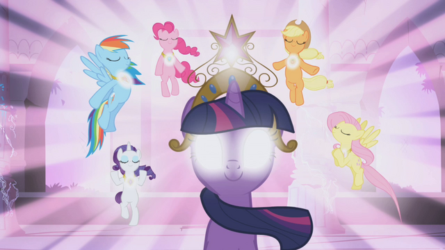 Arquivo:Main ponies activated the Elements of Harmony S01E02.png