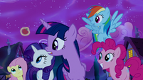 Mane Six in varied amazement S5E13