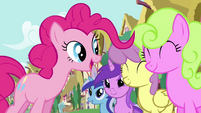 Pinkie Pie's song pony crowd 3 S2E18