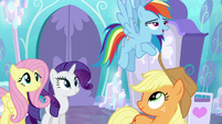 Rainbow Dash --super-strong flying!-- S6E1