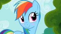 Rainbow Dash blushes S2E08