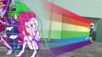 Rainbow Dash speeds off after the relic thief EGS2