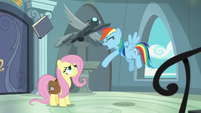 Rainbow Dash tosses Fallen Idol book S9E21