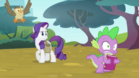 Rarity catches Spike in the act S4E23