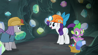 Rarity happy to see Maud Pie S7E4
