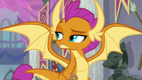 Smolder taking a look around S8E15