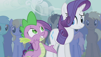 Spike awkward around Rarity S1E06