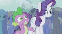 Spike awkward around Rarity S1E06