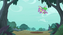 Spike getting used to his wings S8E11