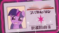 Twilight's dorky library card photo S9E5
