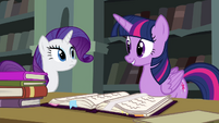 Twilight reminds Rarity of Suri Polomare S4E25