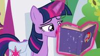 Twilight starts reading the rule book S9E16