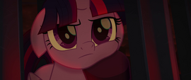 Twilight with her face in Tempest's hoof MLPTM