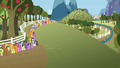 A lot of ponies in line for cider S2E15.png