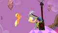 Applejack being levitated by Discord S2E02.png