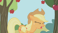 Applejack hit by an apple S01E04.png