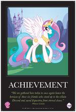 """Celestia """"Achievement"""" poster from ComicCon 2012"""