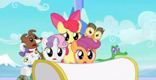 Cutie Mark Crusaders and pets Hubworld bumper cropped S3E11