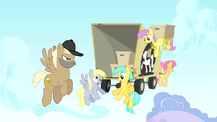 Derpy Hooves movers truck after dropping items S1E15