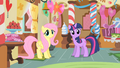 Fluttershy and Twilight in Sugarcube Corner S1E22.png