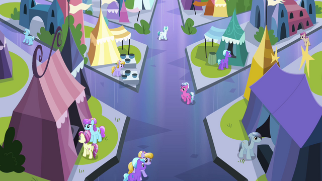 File:Local ponies looking at Twilight S3E2.png