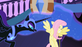 Nightmare Moon scares Fluttershy S01E01.png