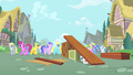 Ponies walking in Ponyville S1E18.png