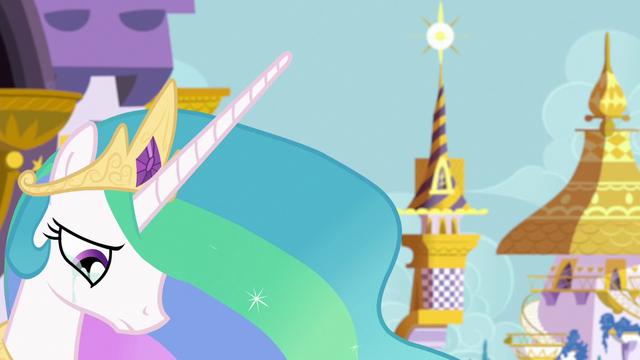 File:Princess Celestia sad about Twilight leaving S7E1.png