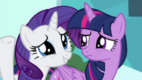 "Rarity ""smile and wave like a princess"" S4E25"