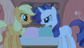 Rarity talking mad at Applejack S1E8.png