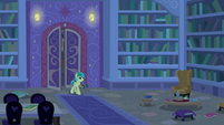 Sandbar enters the library at night S8E25