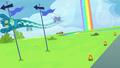 Sky Stinger swerves around flagpoles S6E24.png