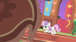 Sweetie Belle stares down the 'creature' S01E17